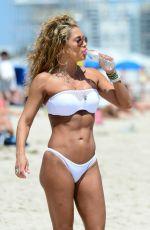 JENNIFER NICOLE LEE in White Bikini on the Beach in Miami
