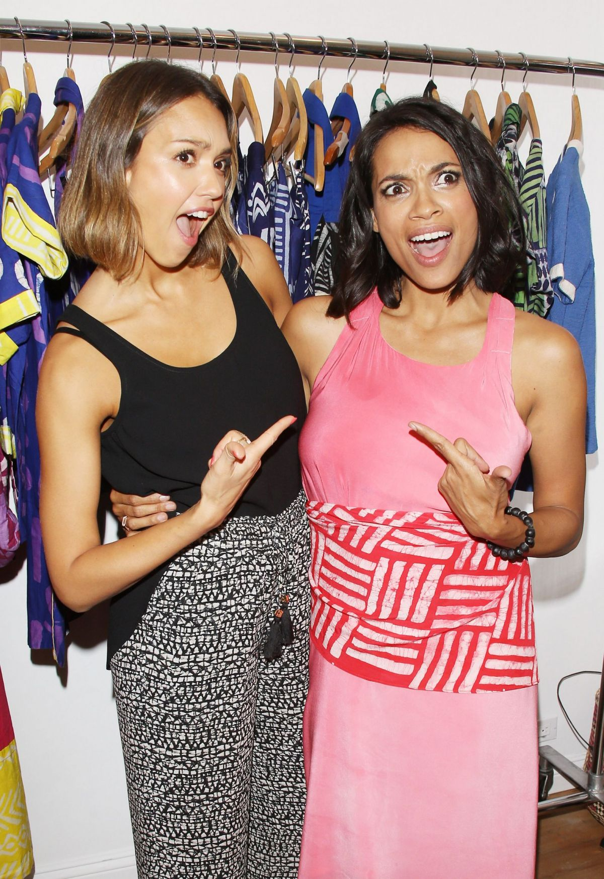 JESSICA ALBA and ROSARIO DAWSON at Studio One Eighty Nine Opening Ceremony in New York