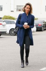 JESSICA ALBA Arrives at Her Office in Santa Monica 04/24/2015