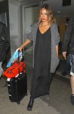 JESSICA ALBA Arrives Back at LAX From New York