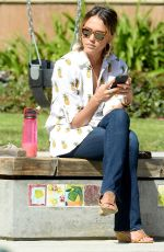 JESSICA ALBA at Coldwater Canyon Park in Beverly Hills 04/18/2015
