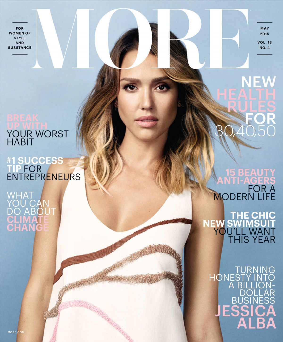 JESSICA ALBA in More Magazine, May 2015 Issue