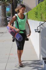 JESSICA ALBA Jeading to Yoga Class in Los Angeles