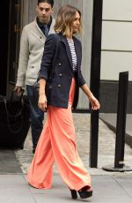 JESSICA ALBA Leaves Her Hotel in New York