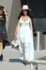 JESSICA LOWNDES Leaves Her Hotel in Los Angeles