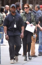 JULIA ROBERTS on the Set of Money Monster in New York 04/18/2015