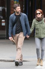 JULIANNE MOORE and Bart Freundlich Out in New York