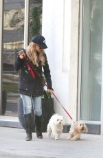JULIE BENZ Takes Her Dogs at the Dog Park in Toronto