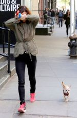 JULIETTE LEWIS Walks Her Dog Out in New York 04/28/2015