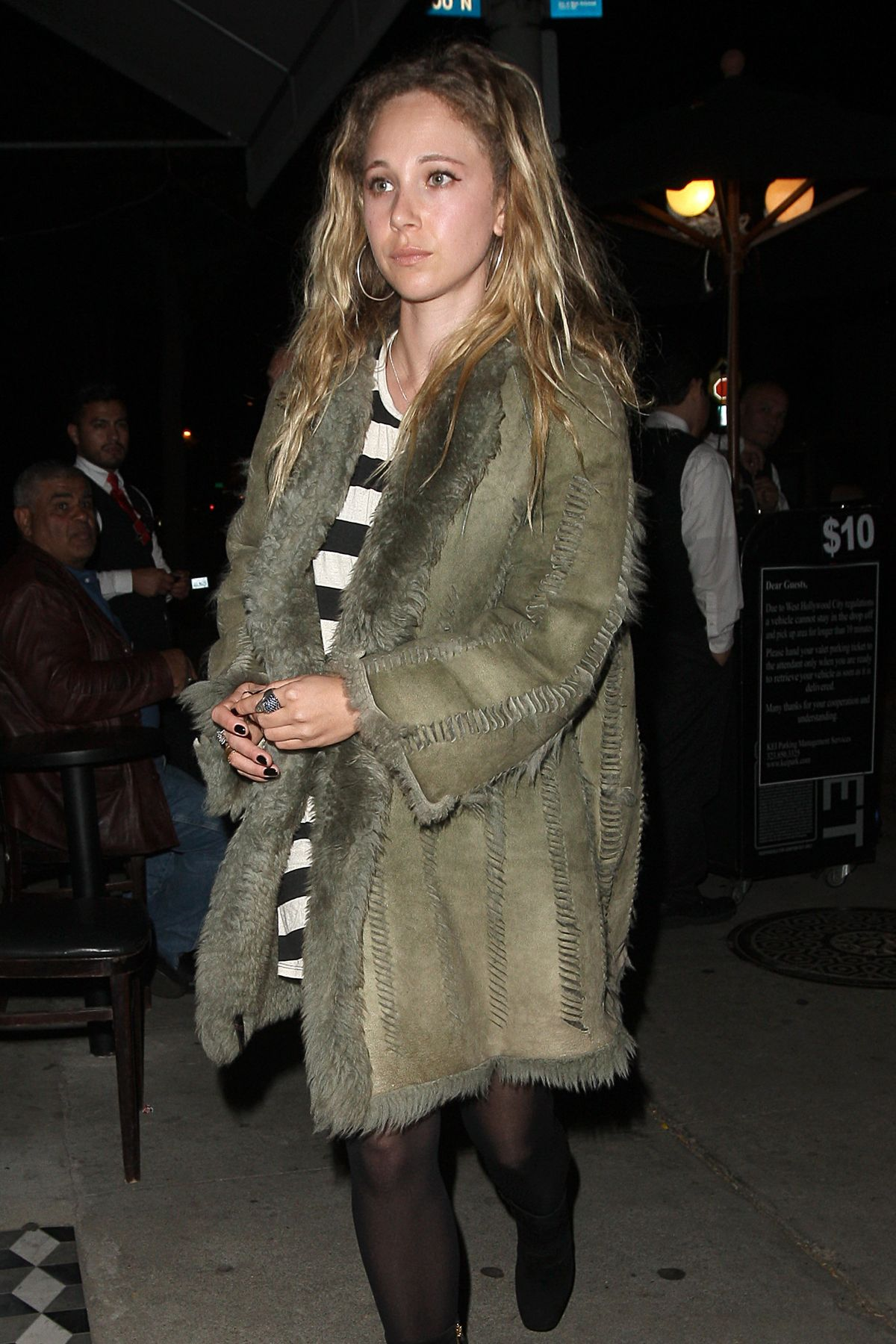 JUNO TEMPLE Night Out in West Hollywood 04/24/2015