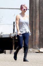 KALEY CUOCO at Horse Riding in Moorpark 04/29/2015