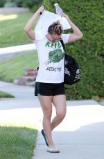 KALEY CUOCO Leaves a Yoga Class in Los Angeles 04/27/2015