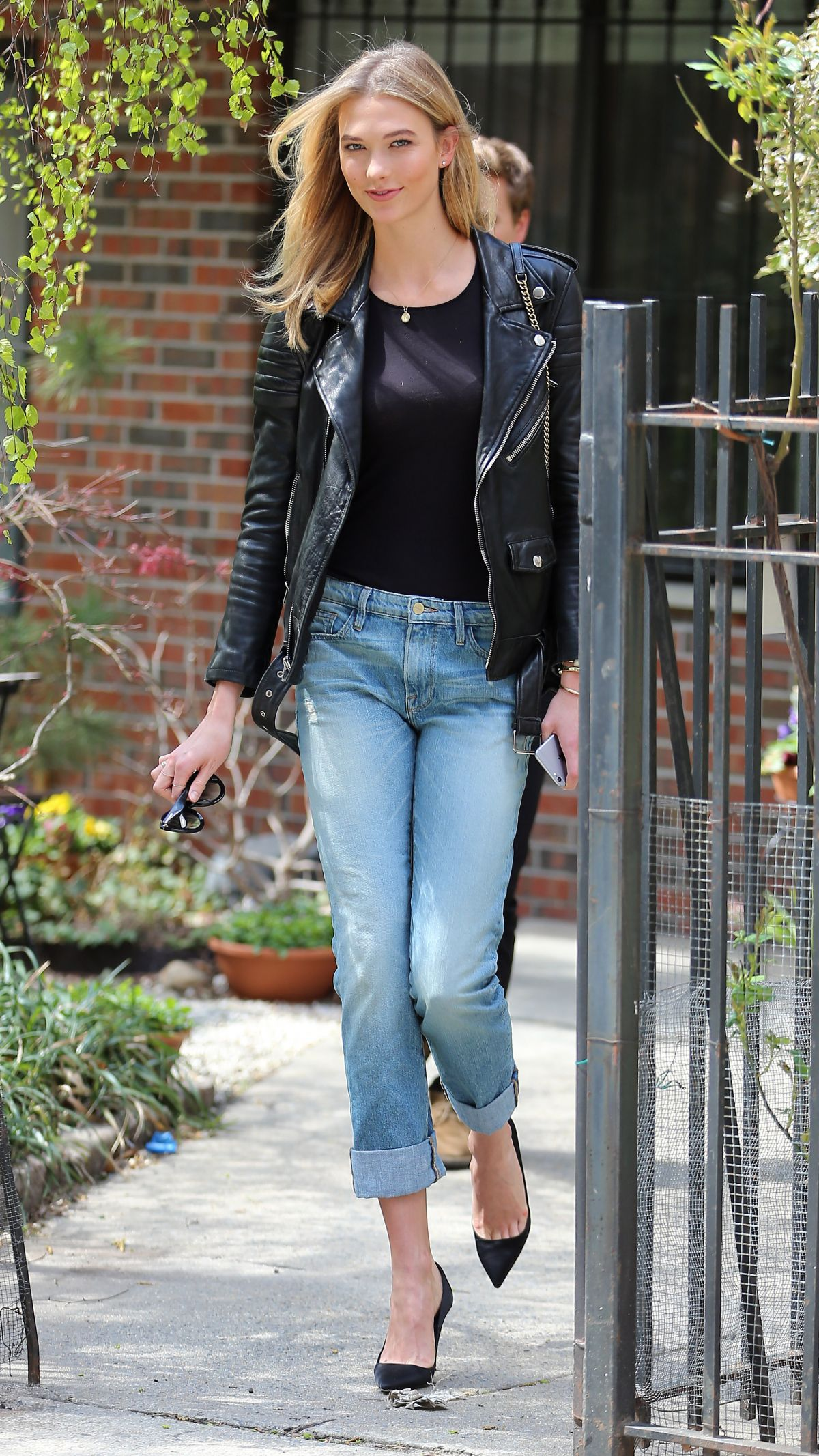 KARLIE KLOSS in Jeans Out and About in New York 04/24/2015