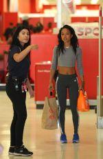 KARREUCHE TRAN in Spandex Shopping at Target in West Hollywood
