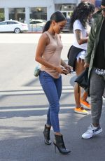 KARREUCHE TRAN Leaves Toast Restaurant in West Hollywood