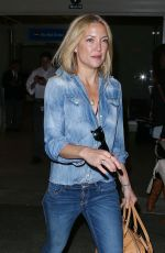 KATE HUDSON in Jeans at Los Angeles International Airport 04/18/2015