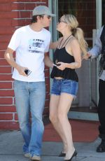 KATE HUDSON in Jeans Shorts Out and About in Los Angeles