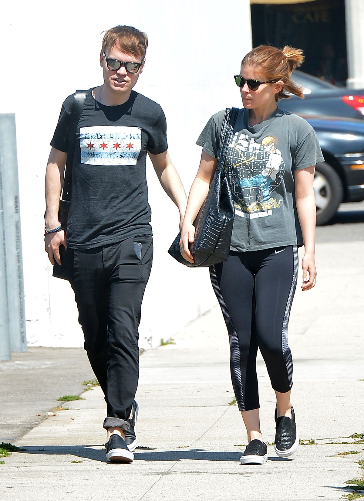 KATE MARA and John Mara Jr. Out and About in Los Angeles