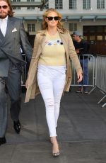 KATE UPTON Arrives at BBC Radio 1 in London