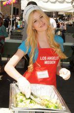 KATHERINE MCNAMARA at Los Angeles Mission Easter Event