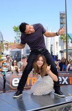 KATHERINE MCPHEE on the Set of Extra in Universal City