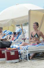 KATIE CASSIDY in Bikini at a Beach in Miami 04/21/2015