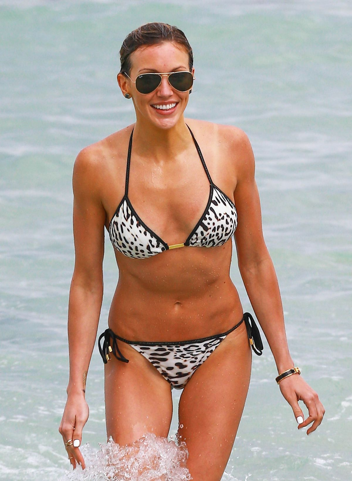 KATIE CASSIDY in Bikini at a Beach in Miami 04/22/2015