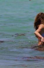 KATIE CASSIDY in Bikini at a Beach in Miami 04/25/2015