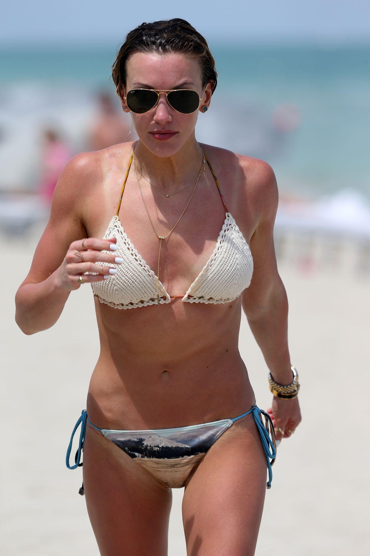KATIE CASSIDY in Bikini on the Beach in Miami 04/20/2015