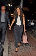 KATIE HOLMES Out for Dinner in New York 04/17/2015