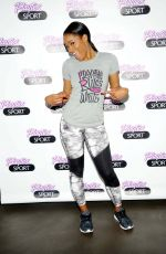 KEKE PALMER at Playtex Sport Hosts a Trampoline Fitness Class in New York
