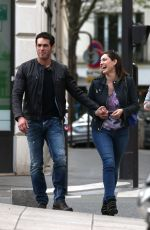 KELLU BROOK and Jeremy Parisis Out and About in Paris