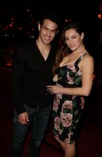 KELLY BROOK and Jeremy Parisis at Crazy Horse in Paris