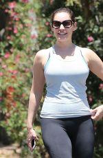 KELLY BROOK Hikinig at Runyon Canyon Park in Los Angeles 04/26/2015