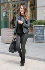 KELLY BROOK in Leather Leaves Her Hotel in New York