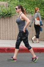 KELLY BROOK in Tights Out and About in Hollywood 04/21/2015