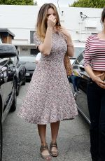 KELLY BROOK Leaves a Hair Salon in West Hollywood 04/24/2015