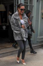 KELLY BROOK Leaves Her London Hotel