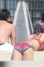 KELLY OSBOURNE in Bikini at a Pool in Sydney