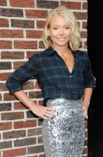 KELLY RIPA Arrives at The Late Show with David Letterman