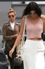 KENDALL JENNER and HAILEY BALDWIN at a Pancake House in West Hollywood 04/23/2015