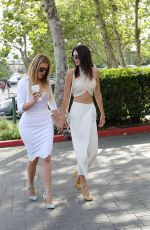 KENDALL JENNER and KHLOE KARDASHIAN at a Church in Agoura Hills
