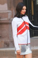 KENDALL JENNER on the Set of a Photoshoot in New York