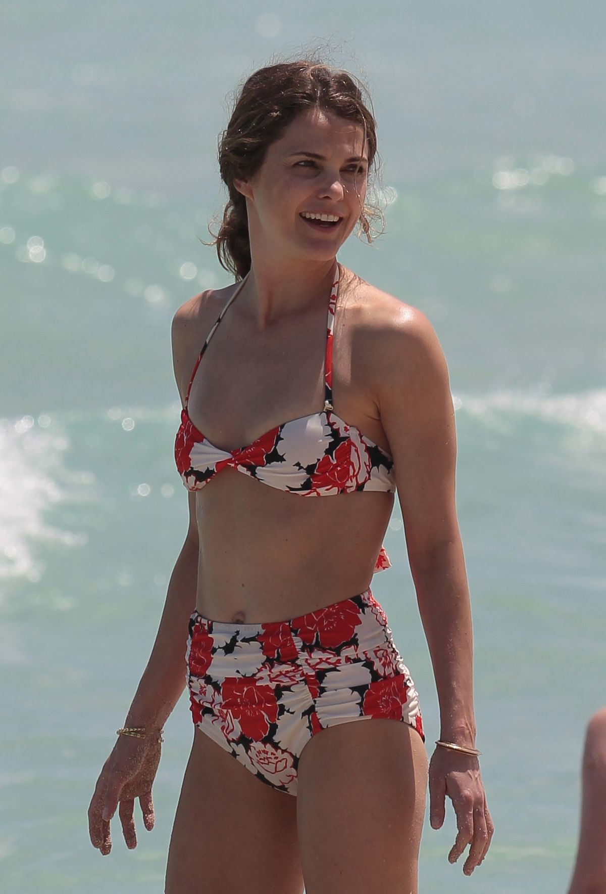 KERI RUSSEL in Bikini on the Beach in Miami
