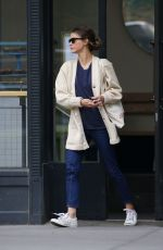 KERI RUSSELL Out and About in Brooklyn 04/28/2015