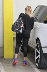 KHLOE KARDASHIAN in Tights at a Gym in Beverly Hills
