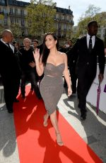 KIM KARDASHIAN at Kardashian Beauty Hair Launch in Paris