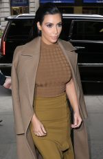 KIM KARDASHIAN Out and About in New York 04/22/2015