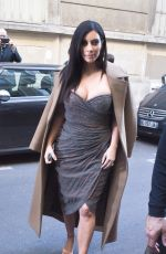 KIM KARDASHIAN Out and About in Paris