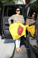 KIM KARDASHIAN Out Shopping in Los Angeles 04/29/2015